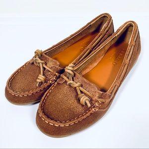 SEBAGO Felluca Lace Metallic Bronze Boat Shoes 6.5